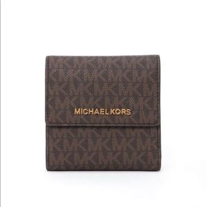Michael Kors Jet Set Travel Trifold Wallet New